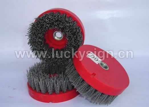 antique abrasive brush round type