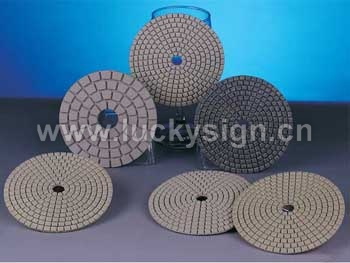polishing pads for dry working